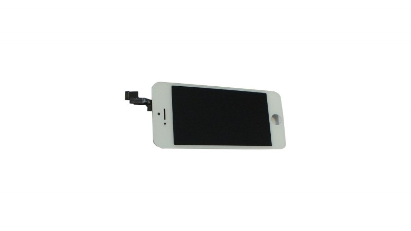 Common quality LCD Digitizer Touch pad with Front panel Glass Cover for iPhone 5S white