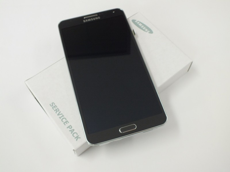 Samsung N9005 Note 3 Display unit with frame in black