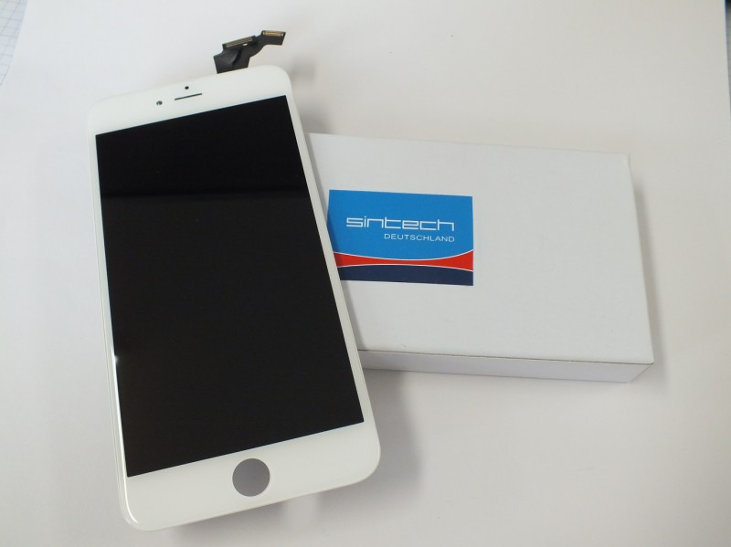 "Display LCD Digitizer Touch pad with Front panel Glass Cover for iPhone 6+ (5,5"") white SINTECH© Premium - Quality"