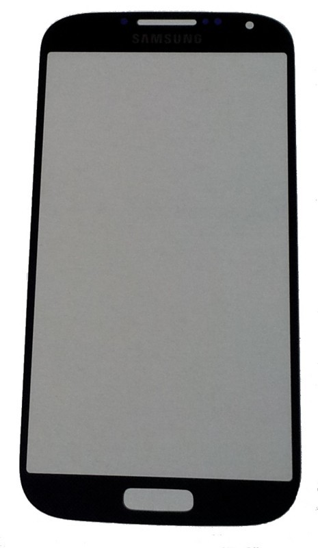 Real black Front Glass (LCD Display and Touch Screen not included) for Samsung Galaxy S4 i9500 / i9505