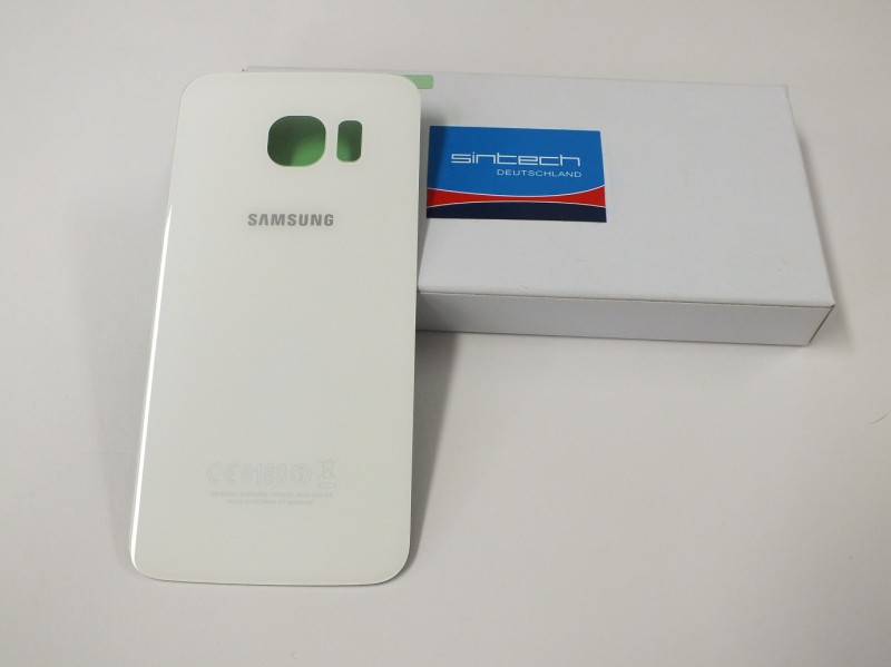 Backcover glas white for Samsung Galaxy S6 Edge G925F