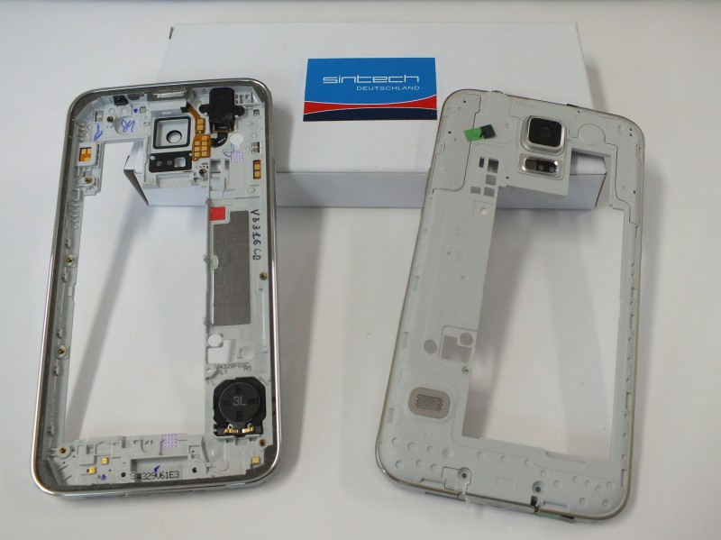 Middle frame for Samsung Galaxy S5 G900f silver