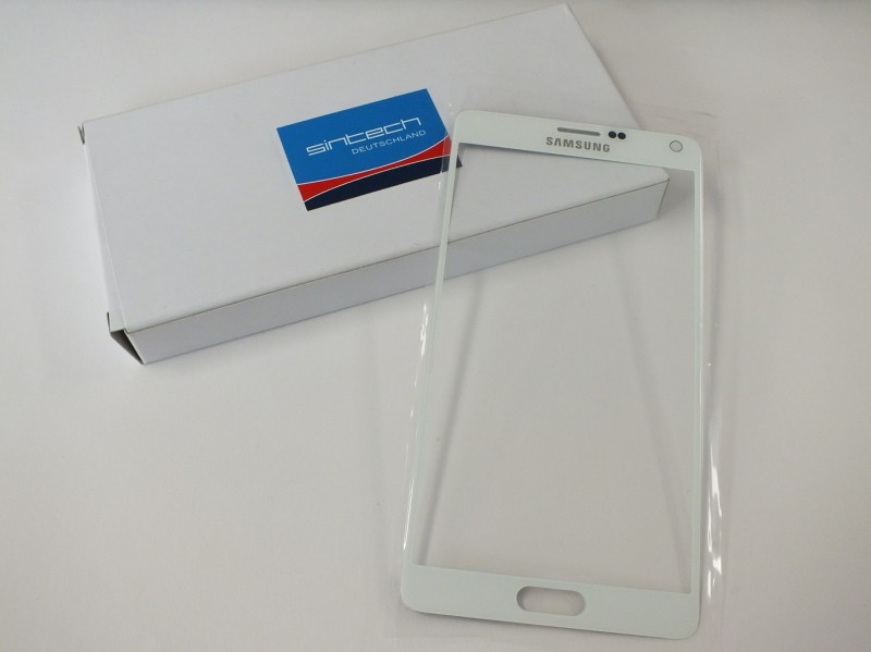 Front Glass (LCD Display and Touch Screen not included) for Samsung Galaxy Note 4 N910 White