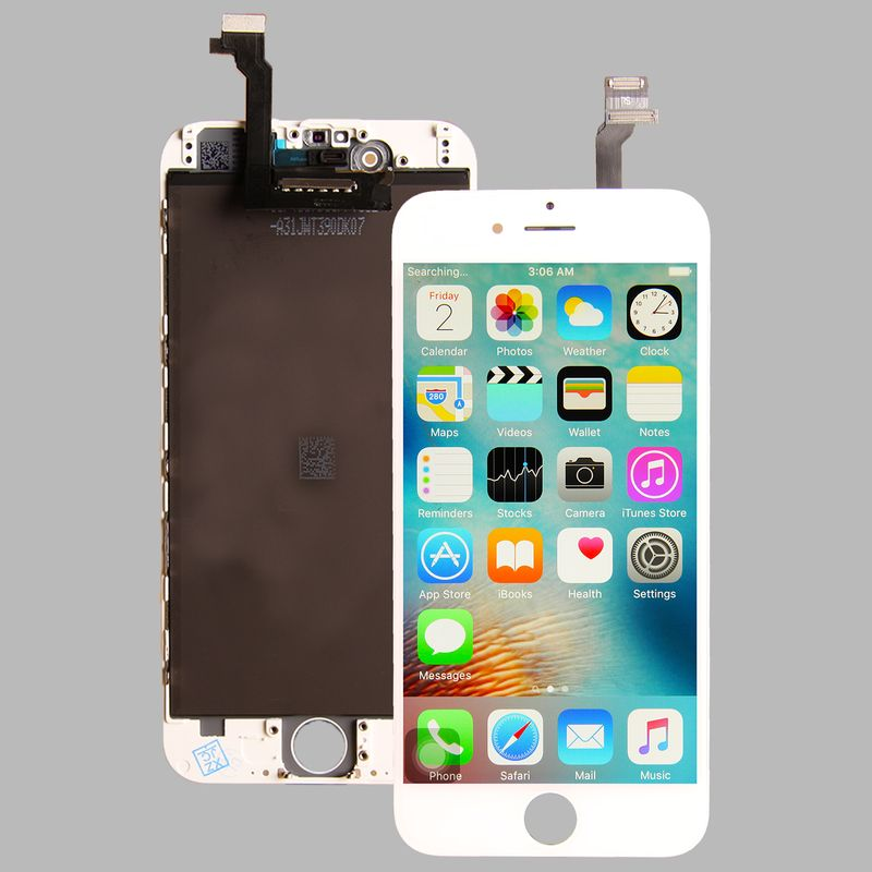 Common quality LCD Digitizer Touch pad with Front panel Glass Cover for iPhone 6 white – Bild 3