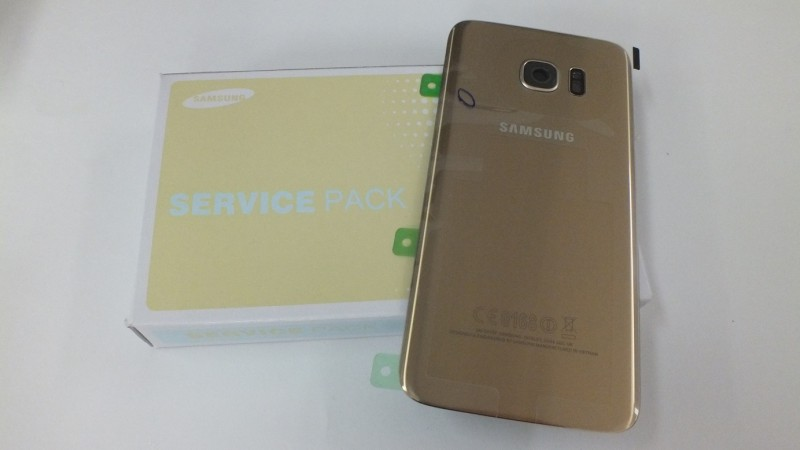 Battery back cover gold glass for Samsung Galaxy S7 Edge G935F   GH82-11346C