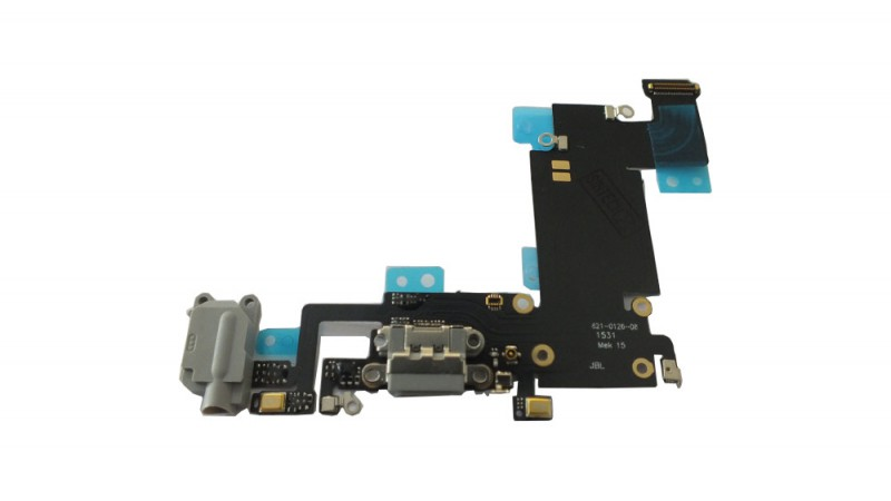Docking port with Headphone Jack and Flexkabel for iPhone 6S+ black