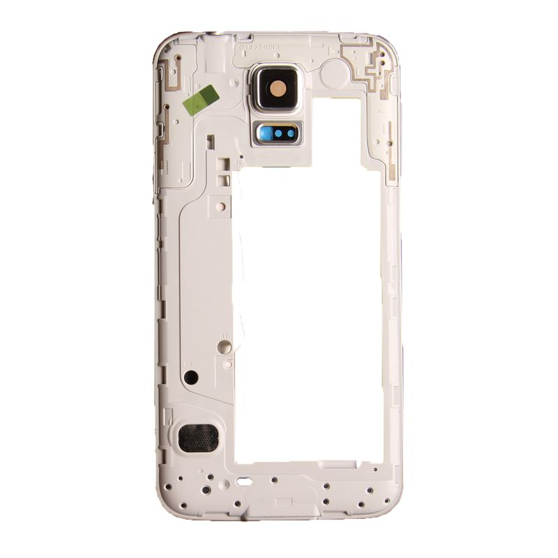 Middle frame for Samsung Galaxy S5 Neo G903f silver with headphone jack, speaker, volume flex and power button – Bild 3