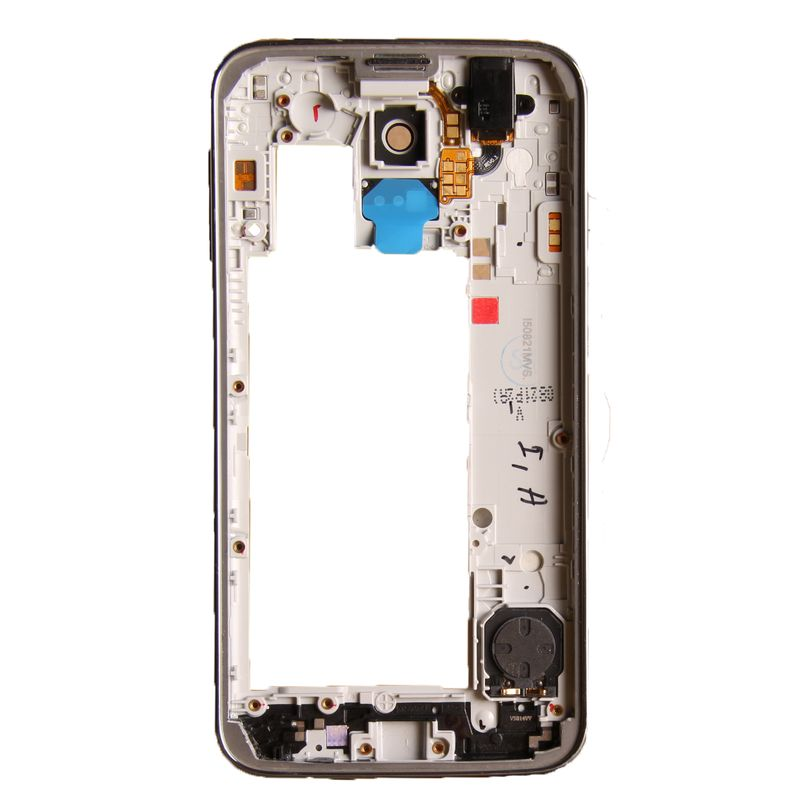Middle frame for Samsung Galaxy S5 Neo G903f silver with headphone jack, speaker, volume flex and power button – Bild 2