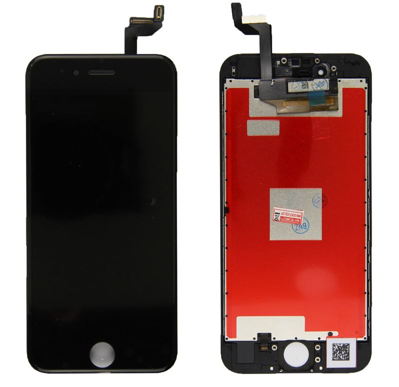 Common quality LCD Digitizer Touch pad with Front panel Glass Cover for iPhone 6S black – Bild 1