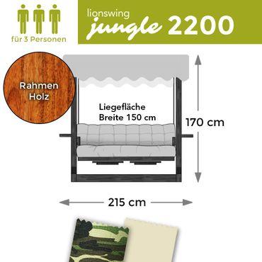 "Hollywoodschaukel ""Jungle"" 2200 (für 3 Personen) Holz – Bild 1"