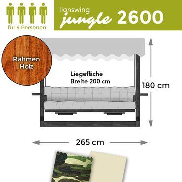 "Hollywoodschaukel ""Jungle"" 2600 (für 4 Personen) Holz"
