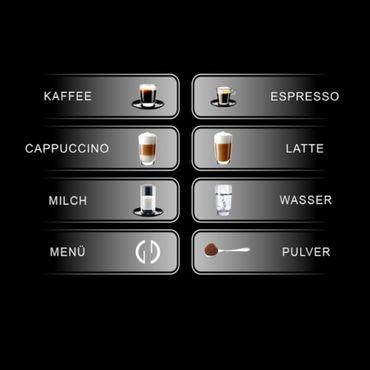"""One-Touch"" Kaffeevollautomat ""Light1"" black / hochglanz inkl. Garantie-Paket – Bild 7"