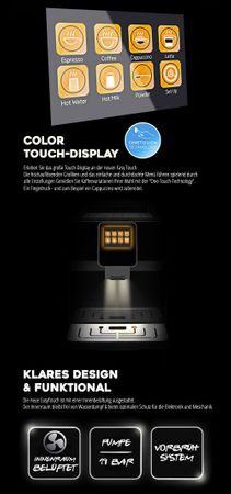 """XL Business-Ausstattung """"One-Touch"""" Kaffeevollautomat """"EasyTouch"""" black / Business – Bild 4"""