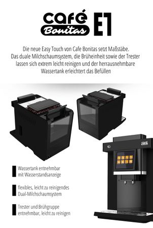 """One-Touch"" Kaffeevollautomat ""EasyTouch"" black / XL Business-Ausstattung – Bild 5"