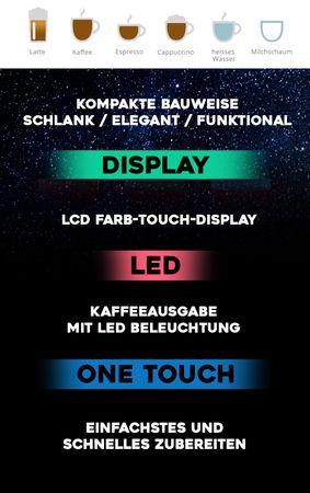"""XL Business-Ausstattung """"One-Touch"""" Kaffeevollautomat """"EasyTouch"""" black / Business – Bild 6"""