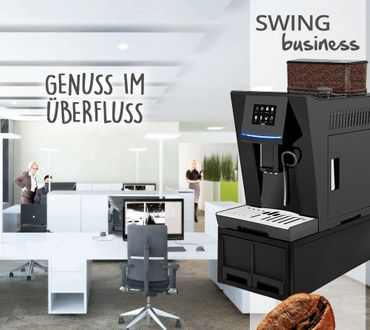 """One-Touch"" Kaffeevollautomat ""SWING"" black / XL Business-Ausstattung"