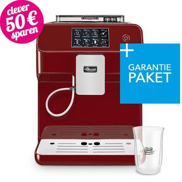 """One-Touch"" Kaffeevollautomat ""KINGSTAR"" rubin / hochglanz inkl. Garantie-Paket + 1 Thermo-Glas 250ml"