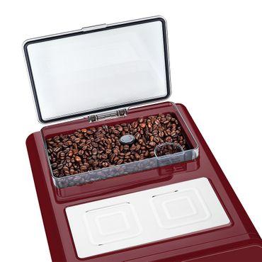 """One-Touch"" Kaffeevollautomat ""KINGSTAR"" rubin / hochglanz inkl. Garantie-Paket + 1 Thermo-Glas 250ml – Bild 8"