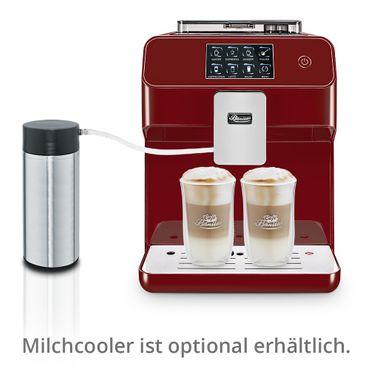"""One-Touch"" Kaffeevollautomat ""KINGSTAR"" rubin / hochglanz inkl. Garantie-Paket + 1 Thermo-Glas 250ml – Bild 2"