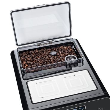 """One-Touch"" Kaffeevollautomat ""KINGSTAR"" black / hochglanz inkl. Garantie-Paket + 1 Thermo-Glas 250ml – Bild 9"