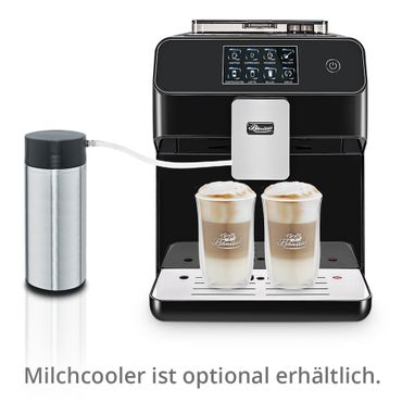 """One-Touch"" Kaffeevollautomat ""KINGSTAR"" black / hochglanz inkl. Garantie-Paket + 1 Thermo-Glas 250ml – Bild 3"