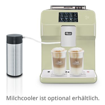 """One-Touch"" Kaffeevollautomat ""KINGSTAR"" lime / hochglanz inkl. Garantie-Paket + 1 Thermo-Glas 250ml – Bild 2"