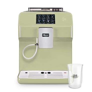 """One-Touch"" Kaffeevollautomat ""KINGSTAR"" lime / hochglanz + 1 Thermo-Glas 250ml"
