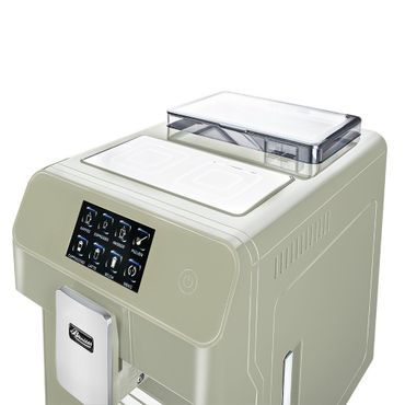 """One-Touch"" Kaffeevollautomat ""KINGSTAR"" lime / hochglanz + 1 Thermo-Glas 250ml – Bild 6"