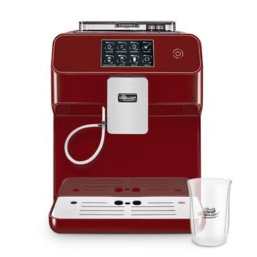 """One-Touch"" Kaffeevollautomat ""KINGSTAR"" rubin / hochglanz + 1 Thermo-Glas 250ml – Bild 1"