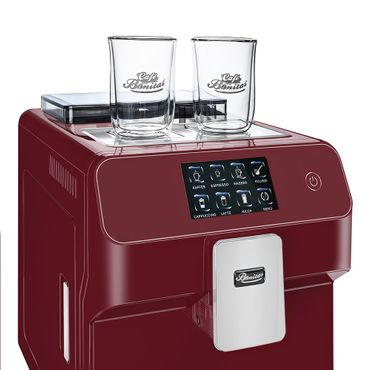 """One-Touch"" Kaffeevollautomat ""KINGSTAR"" rubin / hochglanz + 1 Thermo-Glas 250ml – Bild 9"