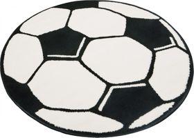 Design Velours Teppich Fußball rund – Bild 1