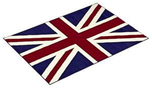 Design Velours Teppich Union Jack