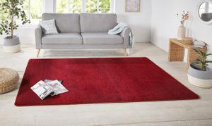 Kurzflor Uni Teppich Nasty Rot  – Bild 3