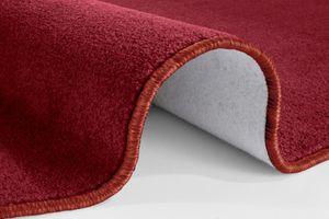 Kurzflor Uni Teppich Nasty Rot  – Bild 5