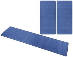 Kurzflor Uni Teppich Nasty Blau – Bild 9