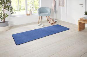 Kurzflor Uni Teppich Nasty Blau – Bild 8