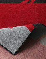 Design Bettumrandung Curve Rot Dunkelbraun Grau  – Bild 3