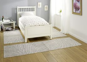 Design Bettumrandung Leaf Creme Grau