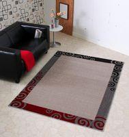 Design Bettumrandung Curl Creme Grau Rot Dunkelbraun  – Bild 2