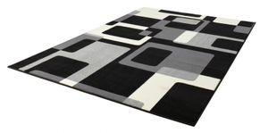 Designer Velours Teppich Retro Schwarz / Creme – Bild 2