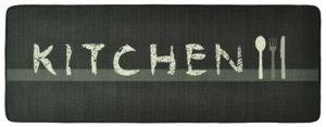 Design Velours Küchenläufer Kitchen Grau 67x180 cm  – Bild 1