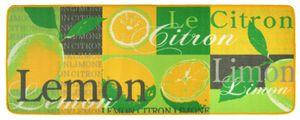Design Velours Küchenläufer Lemon Gelb Grün 67x180 cm  – Bild 1