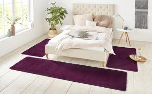 Kurzflor Uni Teppich Nasty Brombeer Violett  – Bild 10
