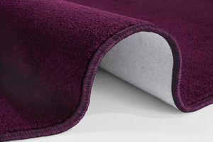 Kurzflor Uni Teppich Nasty Brombeer Violett  – Bild 5