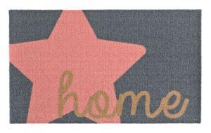 Fußmatte Schmutzfangmatte Stern Home Grau Rosa 50x70 cm – Bild 1