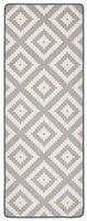 Design Velours Küchenläufer Raute Grau 67x180 cm – Bild 1