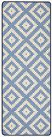 Design Velours Küchenläufer Raute Blau 67x180 cm – Bild 1