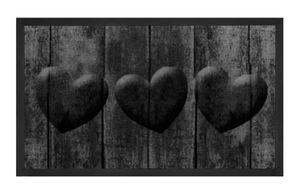 Schmutzfangmatte Hearts Grau Anthrazit 45x75 cm – Bild 1