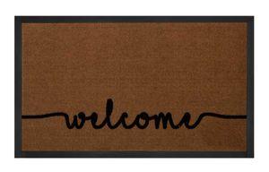 Schmutzfangmatte Cozy Welcome Hellbraun Anthrazit 45x75 cm – Bild 1