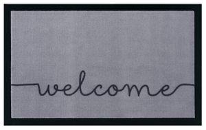 Schmutzfangmatte Cozy Welcome Grau Schwarz 45x75 cm – Bild 1